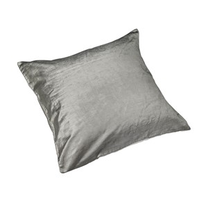 Silver Velour Pute  45 x 45 - Home Factory